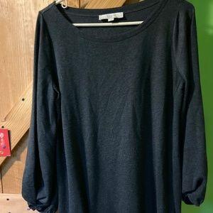 Gray Loft Sweatshirt Dress